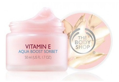 hydrating products The Body Shop Vitamin E Aqua Boost Sorbet best moisturizer for dry skin