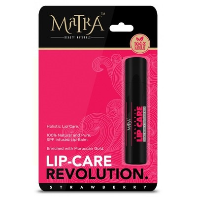 1 Matra 100  Natural Lip Balm Strawberry  SPF   Moroccan Gold Infused-lip-balm