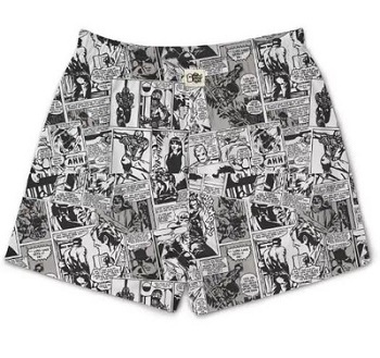 Gifts For Book Lovers- Comic strip boxers