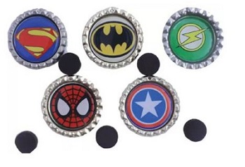 Gifts For Book Lovers- Superhero fridge magnets