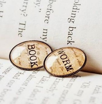 Gifts For Booklovers- Book worm studs