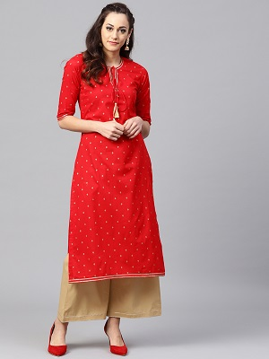 glam-up-in-red-kurta-for-women