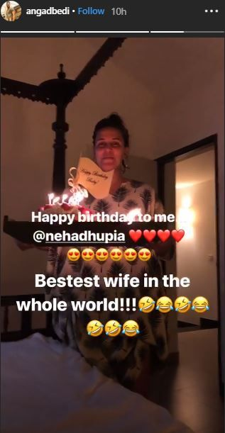 Angad bedi birthday in Goa- Neha Dhupia cake