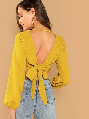 Cutout-Knot-Back-Wrap-Crop-Top-for-honeymoon