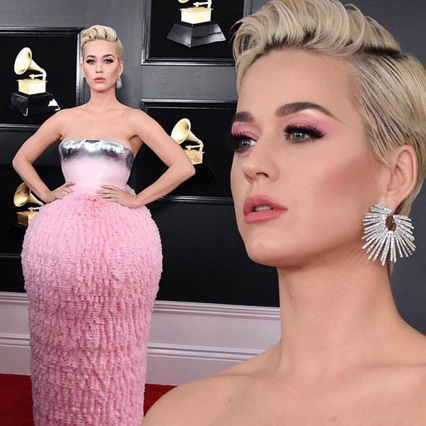 6 Wildest Hair   Makeup Trends That Took Over Grammys 2019 - katy perry