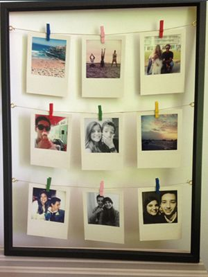 polaroid frame-diy-gift-ideas-for-boyfriend