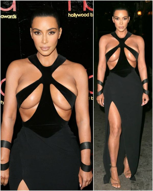 3-Kim-Kardashian-Black-Cutout-Dress