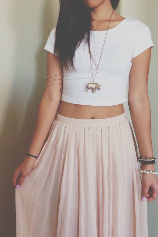 crop top-skirt