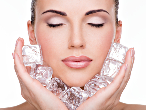 beauty benefits of ice