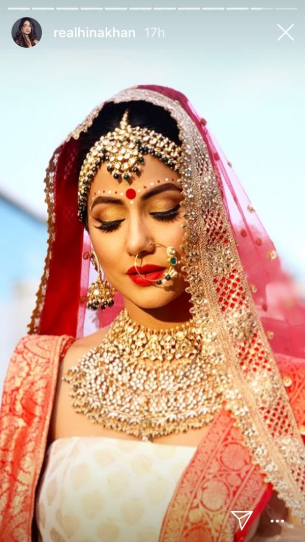 1 We Can't Keep Calm Because Komolika's Bridal Beauty Look Is Too Traditional - hina khan