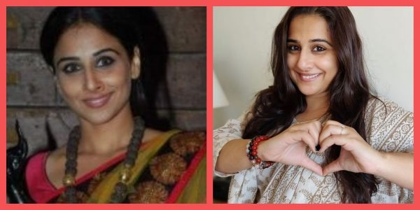 vidya balan then and now