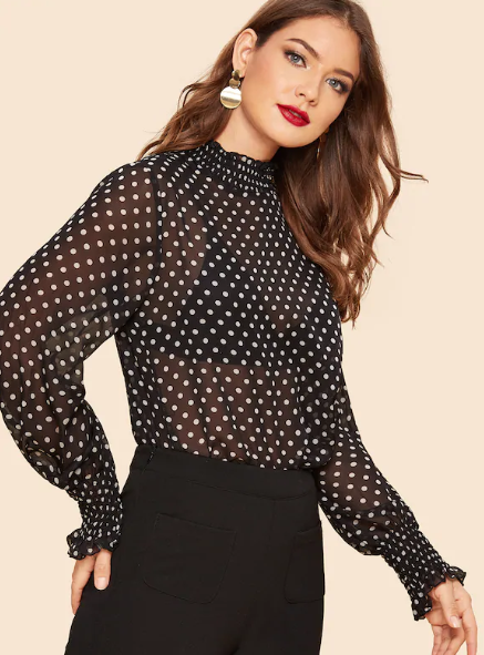 9-black-jeans-with-polka-dot-blouse