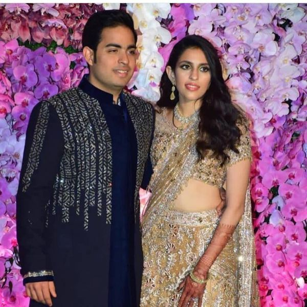 3 Ambani Family's Nayi Bahu Shloka Looked Like A Million Bucks As A Bride! - shloka mehta and akash ambani