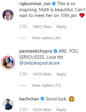 2 rangoli chandal comment on deepika's look on instagram