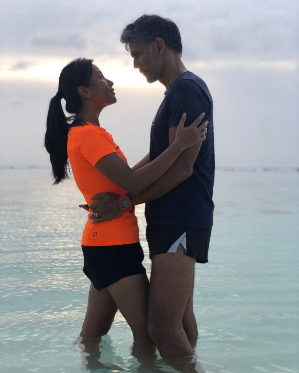 7 milind soman gets cozy with wife ankita