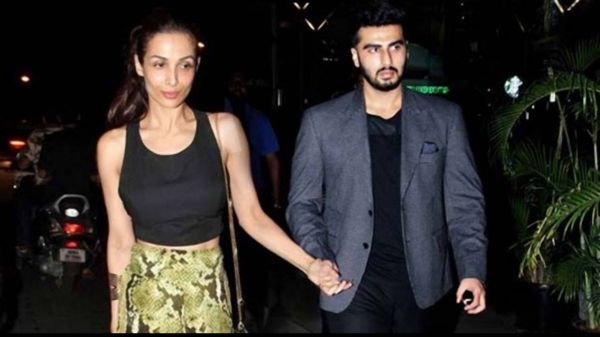 3 malaika arora and arjun kapoor twinning at chunky pandey's dinner party