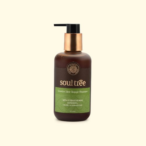sulfates-sulfate-free-shampoo-hair-SoulTree Licorice Hair Repair Shampoo With Strengthening Bhringraj Rs575