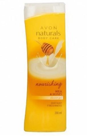 Avon Naturals Milk   Honey Shower Gel
