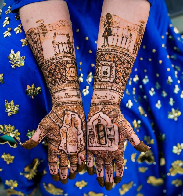 9-bride-entered-on-horse-mehendi