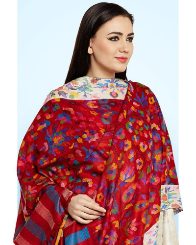 15-pashmina shawl-dupatta design ideas