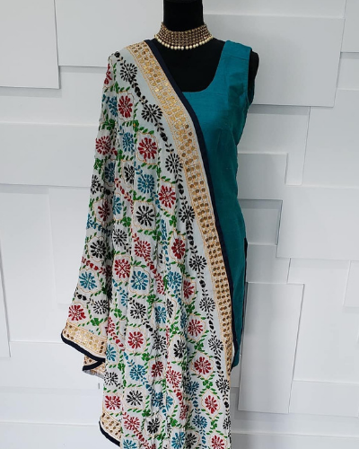 6-thread work -dupatta design ideas
