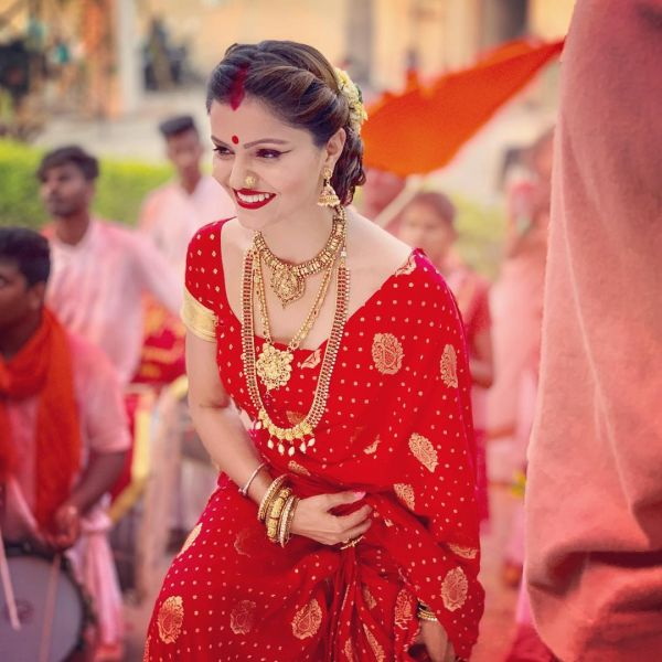 Rubina Dilaik On Not Getting Paid Dues- Red saree