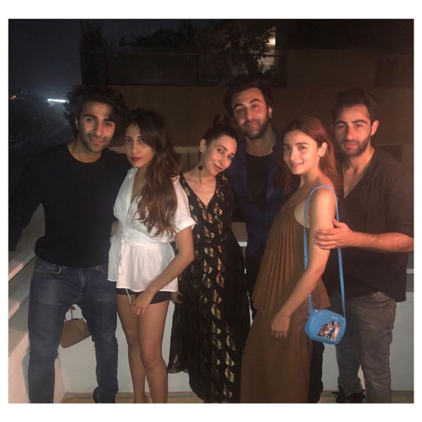 2 ranbir and alia karisma kapoor's party