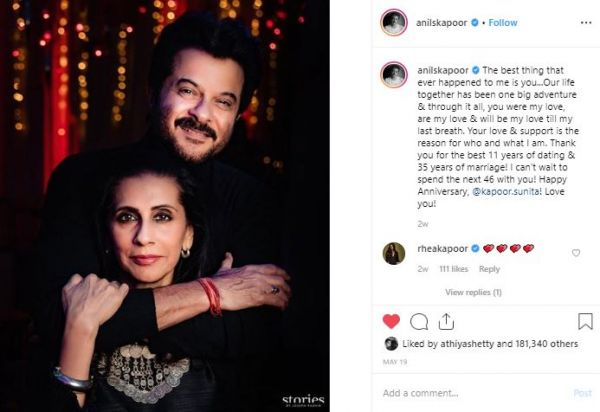 7 instagram lessons from celebs - anil and sunita kapoor