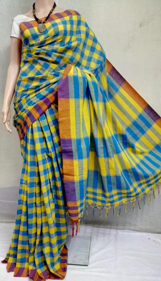 gamchha-in-fashion saree