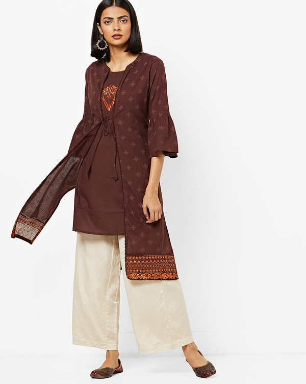 Types-Of-Kurtis-Kurti-With-A-Jacket