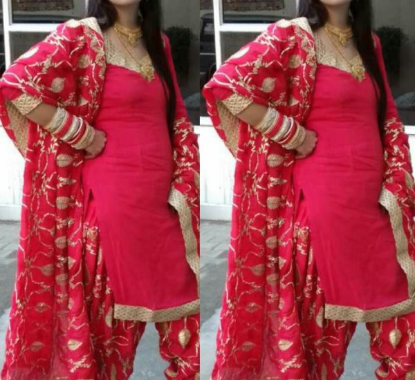 Bridal Punjabi Suit Designs 9