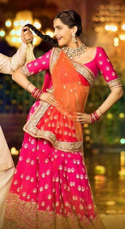 2 bollywood lehengas