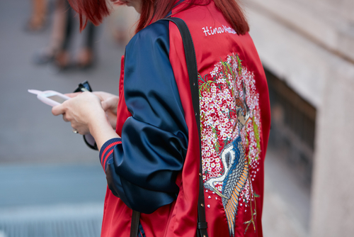 6 words every stylish girl should know - satin bomber jeacket