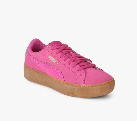 10 types of footwear - Pink Platform Sneakers
