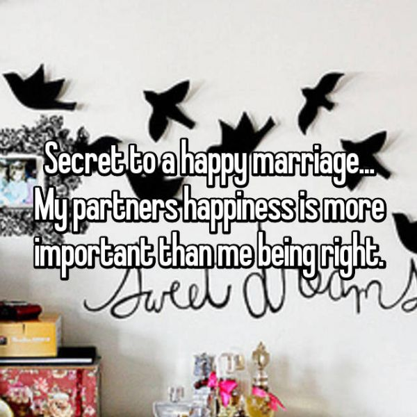 1 secret to a happy marriage