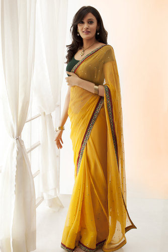 1 tips to wear a saree - woman in saree