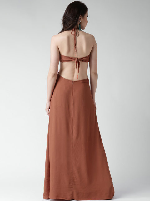 12 dresses for your honeymoon-brown cut-out maxi dress