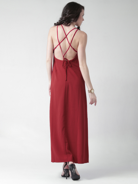 6 dresses for your honeymoon-red maxi dress