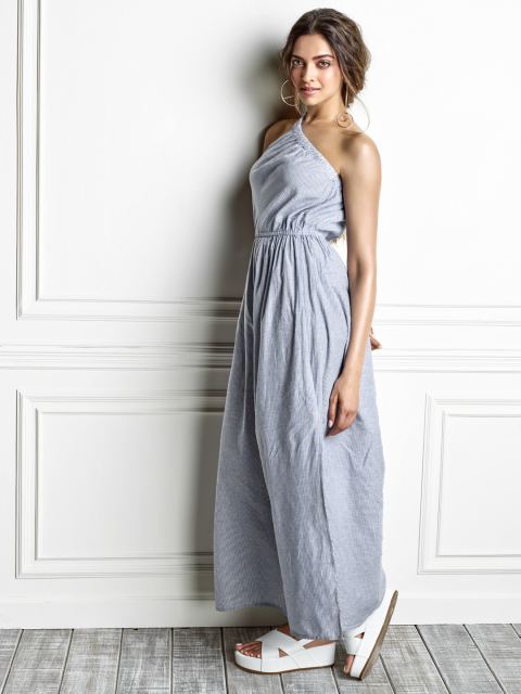 5 dresses for your honeymoon-one shoulder maxi dress