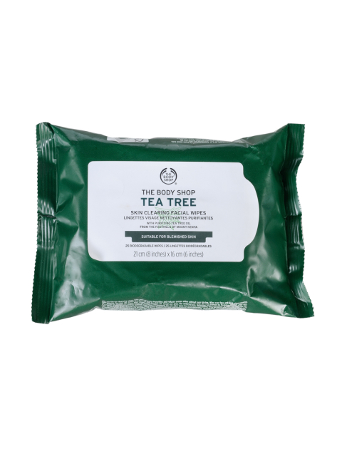 7 beauty products to carry - THE BODY SHOP Tea Tree Skin Wipes