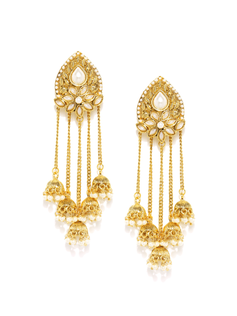 9 fashion essentials every curvy bride must have DressBerry Gold-Toned Drop Earrings
