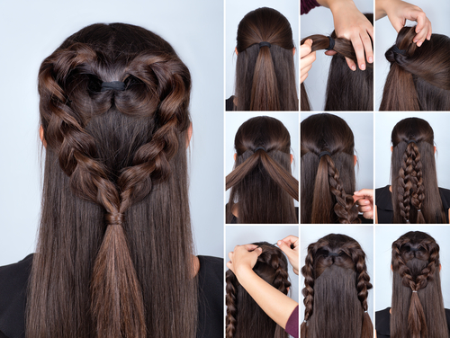 1 sexy hairstyles - heart braid