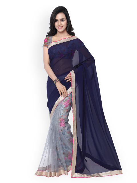 10 simple sarees - Printed Georgette   Net Saree