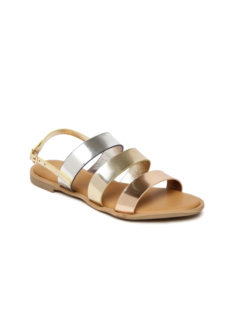 5 footwear for women - Ginger by Lifestyle Women Gold-Toned Flats
