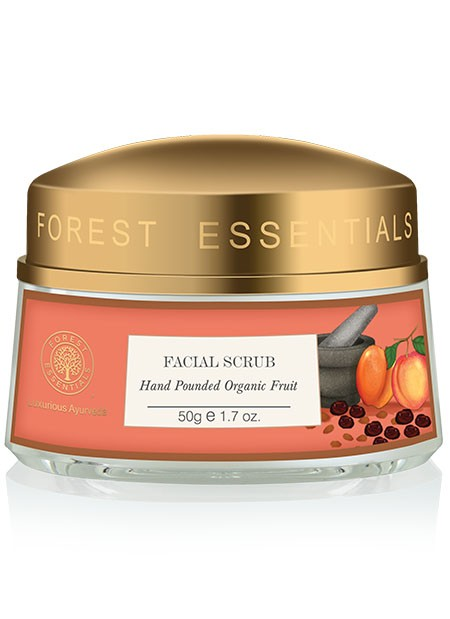 4 Indian Beauty Brands Forest Essentials Hand Pounded Organic Fruit Facial Scrub