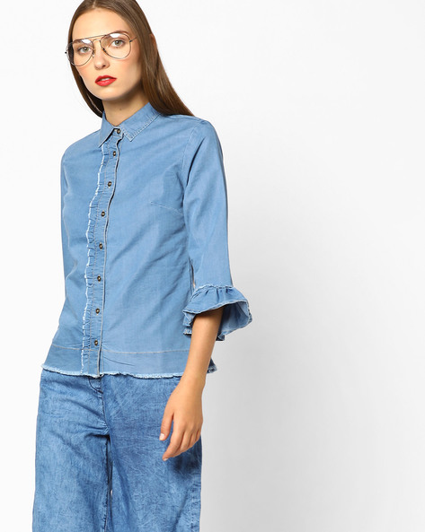 summer outfits 1 denim shirt