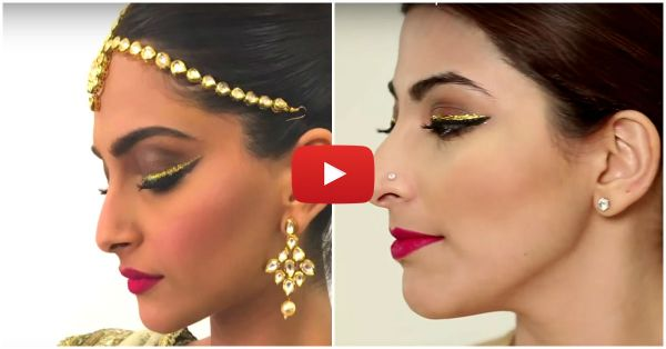 How To Perfect Sonam Kapoor Makeup Look At Home!!