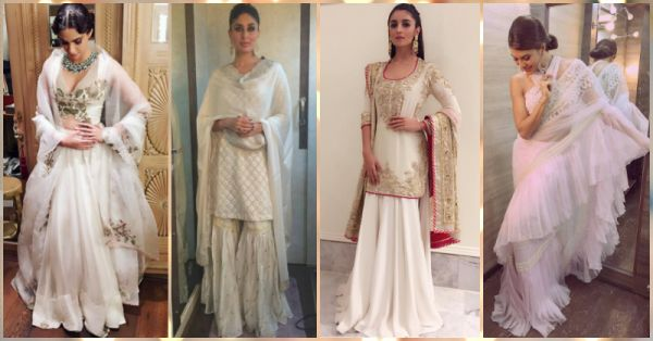 Steal These All-White Shaadi Looks From Our Fav Celebrities!