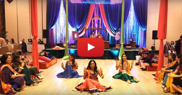 This Bride's Sisters Did A *Beautiful* Dance For Her Mehendi!