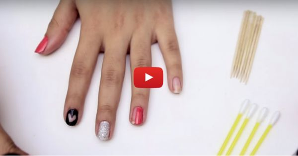 How To Do Amazing Nail Art Using… Nail Paint Remover!